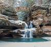 Upper Falls, frozen.  Hocking Hills Ohio. (arthuroleary) Tags: winter ohio hockinghills waterfall longexposure water hiking hike december snow cold midwest fz1000 panasoniclumix lumixfz1000