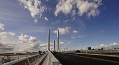 Le pont Jacques-Chaban-Delmas (YᗩSᗰIᘉᗴ HᗴᘉS +11 000 000 thx❀) Tags: bordeaux aquitaine gironde france fr bridge sky blue clouds cloud cloudy town road hensyasmine yasminehens