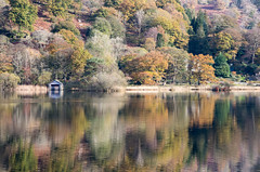 Autumn at Rydal Water (Joe Dunckley) Tags: britain british cumbria england english greatbritain lakedistrict rydalwater southlakeland uk unitedkingdom westmorland architecture autumn boathouse building countryside fall lake nature outdoors reflection tree trees water woodland