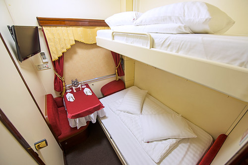 Imperial Russia Business Class double bed and single bed