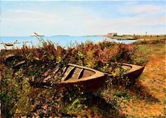 {DT=2011-04-19 @14-57-48}{SN=001}{CO=robaatene} (ændret størrelse) (OK Gallery) Tags: maleri odd boats summer gotland oddkhauge karlsø sverige sweden