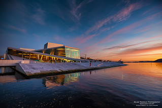 Oslo Opera House - Reflections at sunset