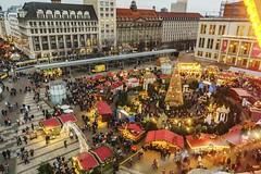 Chrismas market Leipzig (Jupp Hoffmann) Tags: christmas market leipzig city fe28 a7rii overview