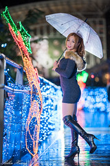 DSC_4353 (Robin Huang 35) Tags: 陳姿含 karry 新北市歡樂耶誕城 耶誕城 聖誕夜拍 夜拍 人像 portrait lady girl nikon d810