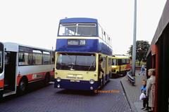 """Grandma, can we go on the Fleetline? Please, grandma, can we? Can we?"" (SelmerOrSelnec) Tags: pennineblue daimler fleetline mcw ghm776n dm ashtonunderlyne londontransport bus"
