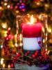 Christmas Candle (DMWardPhotography) Tags: candle bokeh lights flame holiday christmas christmaslights