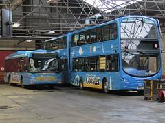Go North East - 5266 - NK56KKB and 6056 - NK62CBV - GoNorthEast20171535 (Rapidsnap (Gary Mitchelhill)) Tags: bus buses christmaseve gonortheast scaniaomnicity percymaindepot volvob5lh wrightecipsegemini2