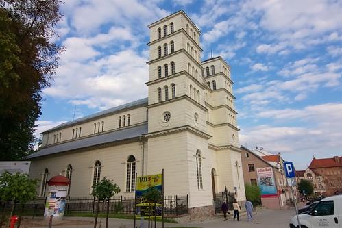 Dawny kościół ewangelicki w Lidzbarku Warmińskim od zachodu