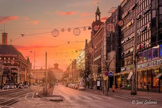 Christmas morning in downtown Helsinki