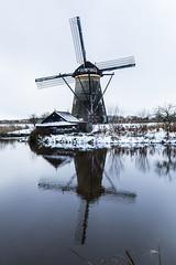 kinderdijk (MartinMck) Tags: windmill holland reflection snow kinderdijk