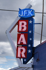 Stars and Bar (Grumpy D. Wharf) Tags: blue montana bar saloon liquor whiskey beer drink alcohol neon sign small town outdoors