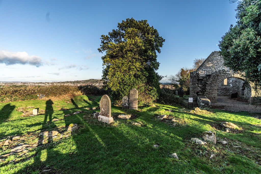 ANCIENT CHURCH AND GRAVEYARD AT TULLY [LAUGHANSTOWN LANE NEAR THE LUAS TRAM STOP]-134556