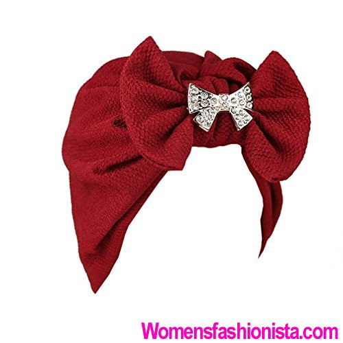 9a943b1a975 Coerni Top Fashion Women Cotton Bowknot and Jewelry Deco Muslim India  Ruffle Turban Head Wrap Cap