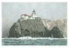 Point Bonita Lighthouse by Gail Borgman McGuire© (gailslighthousecards) Tags: californialighthouses lighthouse california drawing lighthouses portbonitalighthouse sausalito