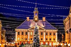 Christmas lights (tarmoerik) Tags: tartu estonia christmas christmastree night lights townhall