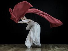 P7231877 (Fiona Katarina) Tags: ballerina nyc blackwhite bw red flow grace movement olympus omdemii fabric billowy dance