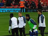 Leicester players warm up (lcfcian1) Tags: liverpool leicester city anfield lfc lcfc football sport england stadium liverpoolfc liverpoolvleicester stadia anfieldroad georgethomas aleksandardragovic