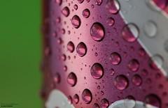 Cherry Coke (disgruntledbaker1) Tags: madeofmetal macromondays redux2017myfavoritethemeoftheyear drops water silver pink