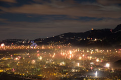 Silvester 2017/18 (felipeepu) Tags: happynewyear firework silvester rockets night sky clouds mountains lights foggy celebration new year years eve