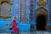 Colors of Sachal Sarmast shrine (Mobeen_Ansari (in Seattle, LA, TX and DC July-Augu) Tags: sachal sarmast shrine sindh blue mazaar