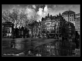 Albert Square, Manchester.  [Explore 4 Jan 2018]
