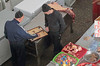 Butcher Backgammon (peterkelly) Tags: uzbekistan tashkent chorsubazaar bazaar market men playing boardgame meat backgammon