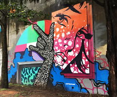 Pew Pew by Lets Go Paint (wiredforlego) Tags: graffiti mural streetart urbanart aerosolart publicart cabbagetown atlanta georgia atl letsgopaint forwardwarrior