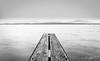 entre deux rives (stephanie.varidel) Tags: blackandwhite noiretblanc paysage landscape eau lac ciel bois ponton minimaliste