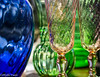 Sunlight brightens everything. (Phyllis Freels) Tags: copperpossumantiques florida milton phyllisfreels blue glassware green