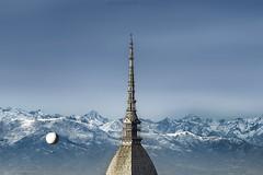 Terrazza Alpina (Roberto -) Tags: torino turin italy alpi alps nikon d3200 nikkor mountain view clouds mole antonelliana 50 mm mongolfiera baloon snow neve
