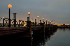 Harbour lights in Helsingborg (frankmh) Tags: bridge harbor harbour light helsingborg skåne sweden outdoor sea water