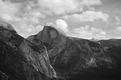 Half Dome (speed6ump) Tags: pan american highway california yosemite national park valley bicycle tour touring cycle adventure half dome black white point