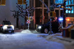 Wintertime in LegoNYC (sponki25) Tags: lego legonyc snow new york city cars trucks weather christmas prechristmasseason winter snowplow dsny department sanitation