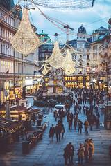 Christmas is all around. (www.juliadavilalampe.com) Tags: vienna viena wien austria street lights chandeliers lamps christmas navidad weihnachten