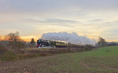 Steam Sunset 2017 (Deepgreen2009) Tags: bulleid pacific clanline merchantnavy climbing brockham surrey hills sunset rural train railway steam uksteam 35028