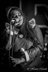 Day 357: Mrs Christmas Sings (Howie1967) Tags: female vocalist rock metal mono black white norwich norfolk scene alien nation terry