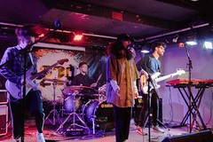 Hoshino -8794 (redrospective) Tags: 2017 20171130 229thevenue hoshino london afro band baseballcap bass bassguitar bassist cap concert concertphotography electricbass gig glasses guitar guitarist hat instrument instruments live livemusicphotography man men music singer singing woman