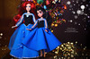 Ariel family (3) (Lindi Dragon) Tags: doll disney disneyprincess disneystore ariel eric mermaid little melody newyear handmade dress blue