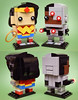 Brickheadz: Wonder Woman & N52 Cyborg (Andrew Cookston) Tags: lego dc comics wonder woman diana prince cyborg vic victor victory stone brickheadz red yellow blue grey gray black custom stilllife toy lighting nikon macro photography andrew cookston andrewcookston