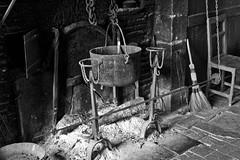 Fireplace (@WineAlchemy1) Tags: fireplace openfire ash pot spit kitchen châteaudecormatin sâoneetloire burgundy bourgogne france hearth cooking marquisduxelles blackwhite monochrome