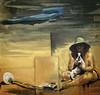 'Buried Treasure' by Eric Fischl (Greatest Paka Photography) Tags: painting art artist sfmoma museum buriedtreasure sanfrancisco metaldetector ericfischl museumofmodernart exhibit layeredpaintings