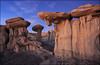 Valley of dreams (jeanny mueller) Tags: usa southwest newmexico bistibadlands ahshislepah giantmushroom stone landscape sunset rock desert