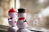 Ben and Bumpy 003/365 (Watermarq Design) Tags: snowmen solar window winter fun wave 365project windowwednesdays