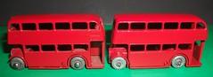 Lesney Matchbox No 5 buses 2nd version. (Ledlon89) Tags: matchbox lesneytoys diecasttoys bus buses london britishtoys 1950s 1960s londonbus londonbuses rtbus lt lte londontransport scalemodel scaleddown diecastbus diecastmodels
