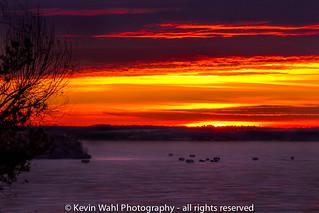 sunset on the ice