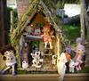 It was a beautiful day to visit the Piggy House... (TutuBella) Tags: realpuki dolls bliss button burton bobby sweetiebelle fairyland daisydayes animals piggys piggy pig niles daphne puppy dog sparky owl owlet owlfamily iplehouse snoopy beagle beautifulday diy happyweekend