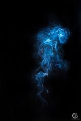 1/52 - Das rauchende Ross (latelounge) Tags: 52weeks rauch ross dunst blau blue horse flash blitz pferd latelounge lateloungephotography