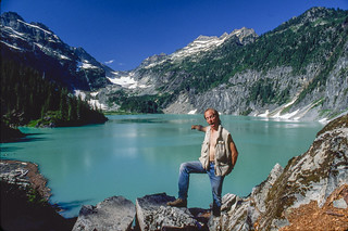 Glacial lake in Washington State
