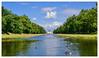 Schloss und Schlosspark Nymphenburg / München (Harald52) Tags: schloss park nymphenburg münchen wasser bäume himmel spiegelung perspektive