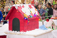 snoopy's home in gingerbread (raspberrytart) Tags: festivaloftrees christmas gingerbread gingerbreadhouse gingerbreadcookie cookie candy decorating nikon d7100